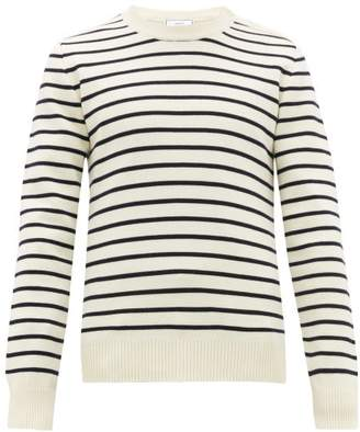 Ami Striped Wool Sweater - Mens - Blue White