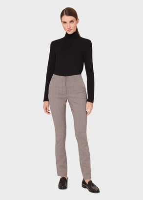 Hobbs Annie Check Slim Trouser With Stretch