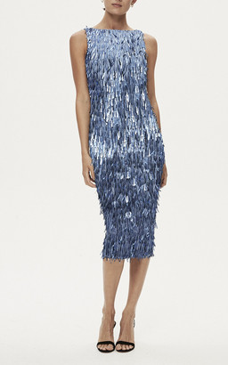 Rachel Gilbert Opus Embellished Fringed Dress