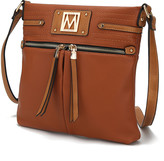 Mkf Collection By Mia K. MKF Collection by Mia K. Women's Crossbodies - Cognac Ferri Crossbody Bag