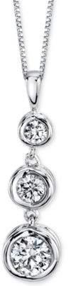 Sirena Energy Diamond Three-Stone Pendant Necklace (1/3 ct. t.w.) in 14k Yellow Gold or White Gold