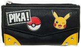 Bioworld Nintendo Pokemon Pika! Junior Flap Wallet Pikachu Black Faux PU Leather Licensed