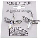 Crystallite Destine Dragonfly Dangle Earrings