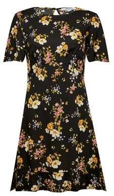 Dorothy Perkins Womens Dp Petite Multi Colour Woven Fit And Flare Dress