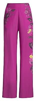 Etro Women's Sketch Floral Wide Leg Pants