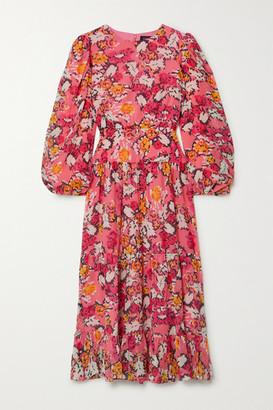 Saloni Isabel Floral-print Silk-georgette Midi Dress