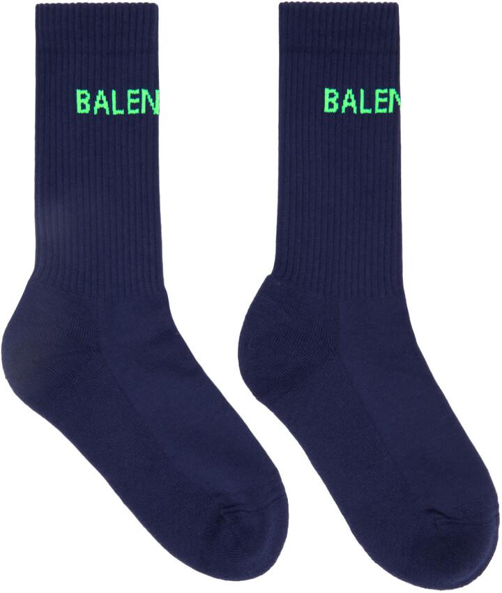 Thumbnail for your product : Balenciaga Navy Logo Tennis Socks
