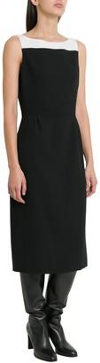 Givenchy Colorblocked Wool Sleeveless Dress