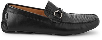 Saks Fifth Avenue Basket Weave Leather Loafers