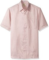 Haggar Men's Big and Tall Short Sleeve Microfiber Prints Woven Shirt