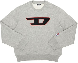 Diesel Logo Patch Cotton Sweatshirt