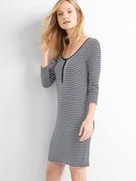 Gap Stripe henley mini shirtdress