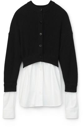 alexanderwang.t Bi-Layer Oxford Shirting Cardigan