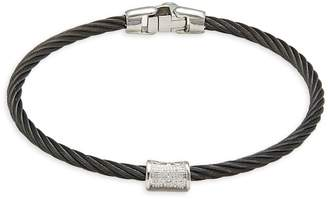 Alor Black Cable, 18K White Gold & Diamond Bracelet