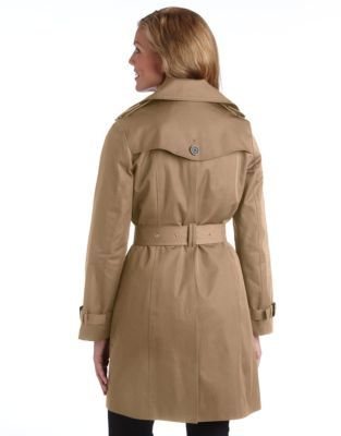 Michael Kors Petite Double Breasted Trench Coat