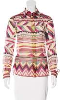 M Missoni Printed Button-Up Top