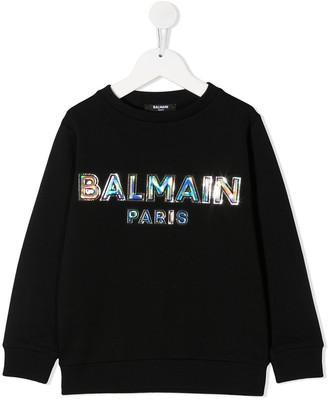 Balmain Kids Logo Print Sweatshirt