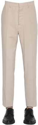 Ami Alexandre Mattiussi COTTON TWILL CIGARETTE PANTS