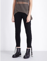 Unravel Skinny lace-up cotton trousers
