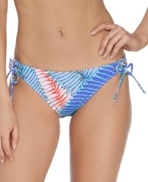 Raisins Juniors' Printed Puerto Palm Sweet Side Bikini Bottoms Women's Swimsuit