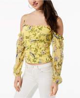 GUESS Natassia Floral-Print Off-The-Shoulder Top