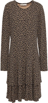 MICHAEL Michael Kors Tiered Printed Jersey Dress