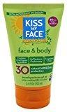 Kiss My Face Spf#30 Organics Face And Body Sunscreen 3.4 Ounce (100ml) (6 Pack)