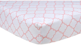 Trend Lab Pink Sky Quatrefoil Fitted Crib Sheet