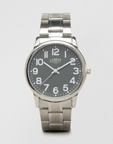 Limit Silver Bracelet Watch With Grey Dial Exclusive To Asos