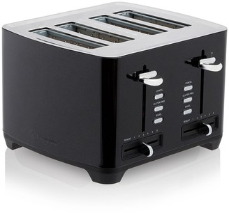 Westinghouse Stainless Steel 4 Slice Side By Side Toaster 29 x 28cm Black