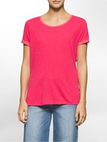 Calvin Klein Slub Cotton T-Shirt