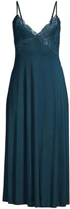Jonquil Oliva Lace Trim Knit Nightgown