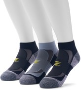Gold Toe Goldtoe Men's GOLDTOE 3-pack Power Sox Apex Pro Double-Tab Low-Cut Socks