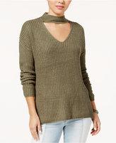 Ultra Flirt Juniors' Choker-Neck Sweater