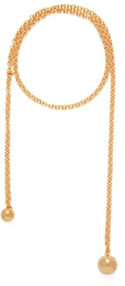 Bottega Veneta Ball 18-karat Gold-plated Long Necklace - Gold