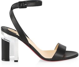 Christian Louboutin Tournikouna Plexi-Heel Leather Sandals