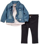 7 For All Mankind Jacket, Tee, & Twill Pant Set (Baby Girls)