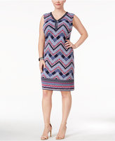 JM Collection Plus Size Beaded Sheath Dress, Created for Macy's