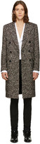 Saint Laurent Tricolor Double-Breasted Wool Coat
