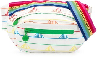 Stella McCartney Sport Rainbow Logo-Tape Belt Bag