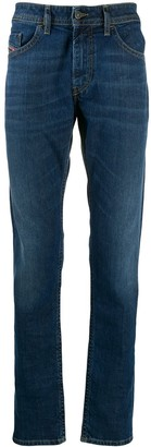 Diesel Low Rise Straight Leg Jeans