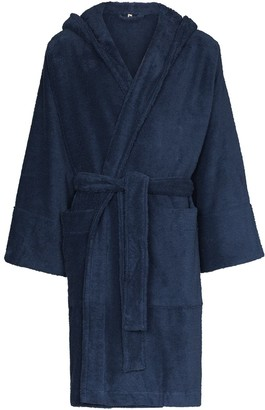 Tekla Hooded Organic Cotton Dressing Gown