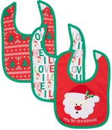 Baby Essentials Red Holiday Bib Set