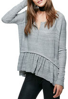 Free People Coastline Long Sleeve Top