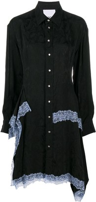 Koché Lace-Trimmed Shirtdress