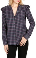 Paige Women's Jenelle Ruffle Plaid Shirt