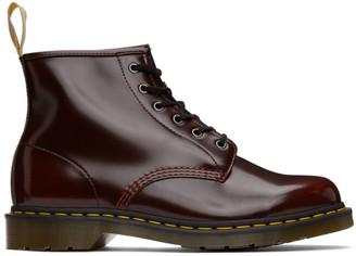 Dr. Martens Burgundy Vegan 101 Boots