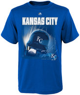 Majestic Boys' Kansas City Royals Kinetic Helmet T-Shirt