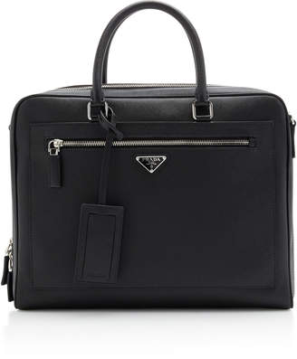 Prada Textured-Leather Briefcase