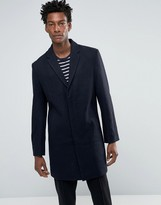 Bellfield Navy Wool Overcoat